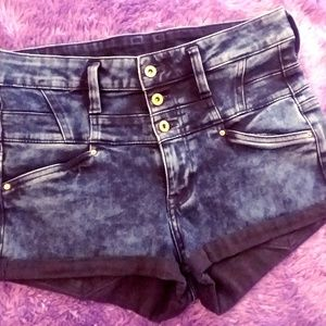H&M Shorts - Acid Washed High-Waist Shorts by H&M